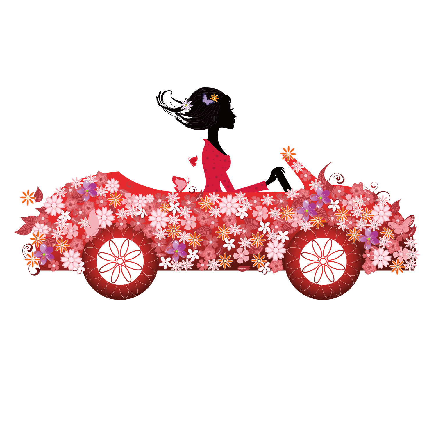 Driving clipart pink car. Royalty free clip art