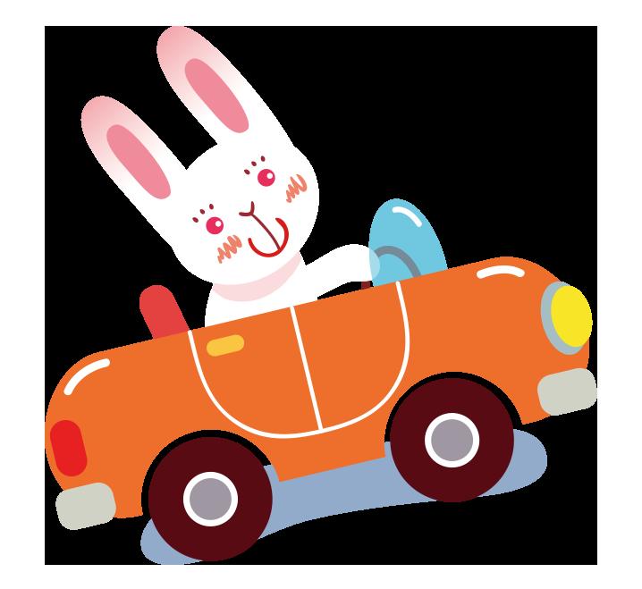 Cartoon clip art painted. Driving clipart pink car