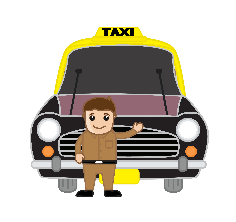 India cartoon transprent. Driving clipart taxi driver