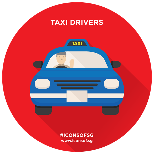 Driving clipart taxi driver. Icons of sg