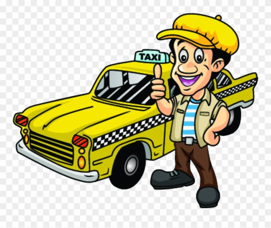 Clip art cartoon png. Driving clipart taxi driver