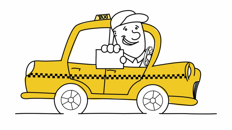Driving clipart taxi driver. Cab free