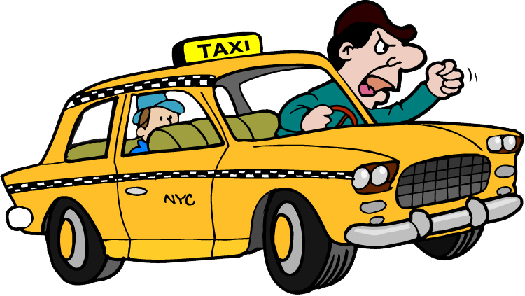 The worst driver in. Driving clipart taxi man