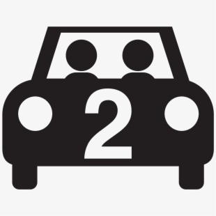 Driving clipart two person. Car with people icon