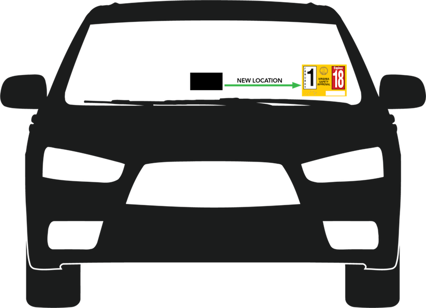 Driving clipart vehicle safety. Virginia state inspection sticker