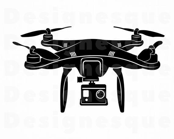 Svg uav files for. Drone clipart