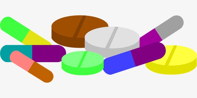 Colored drugs treat a. Drug clipart