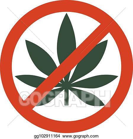 Marijuana clipart drug. Vector stock leaf with