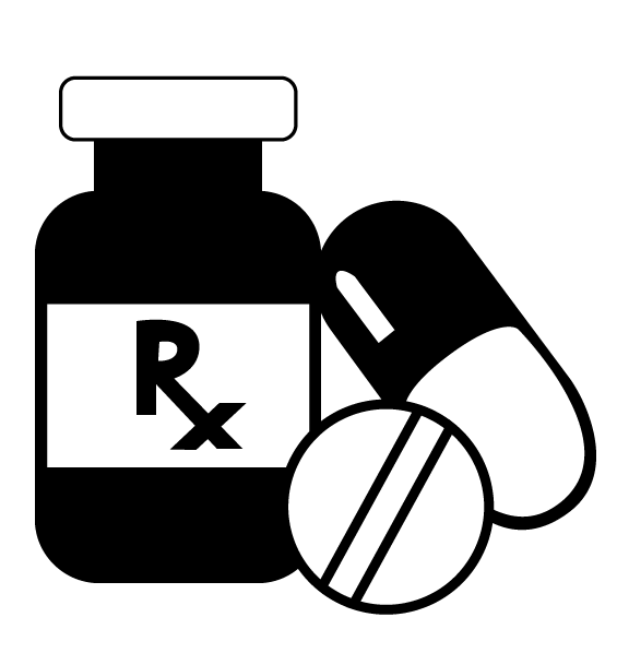 pill clipart black and white
