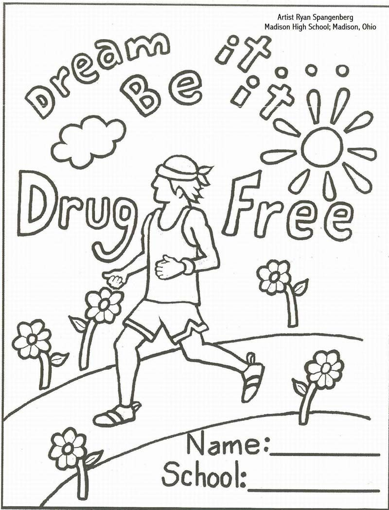 Just say no pages. Drug clipart coloring page
