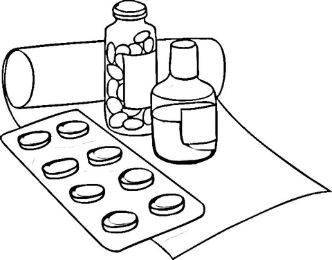 Drug clipart coloring page. Drugs free printable pages