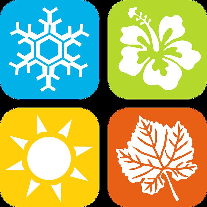 Allergy seasons saf t. Winter clipart summer
