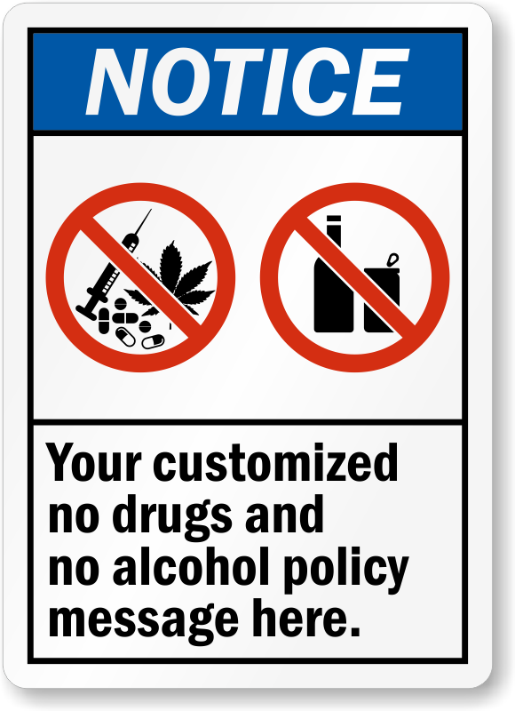Drugs clipart prohibited drug. Free workplace signs zoom
