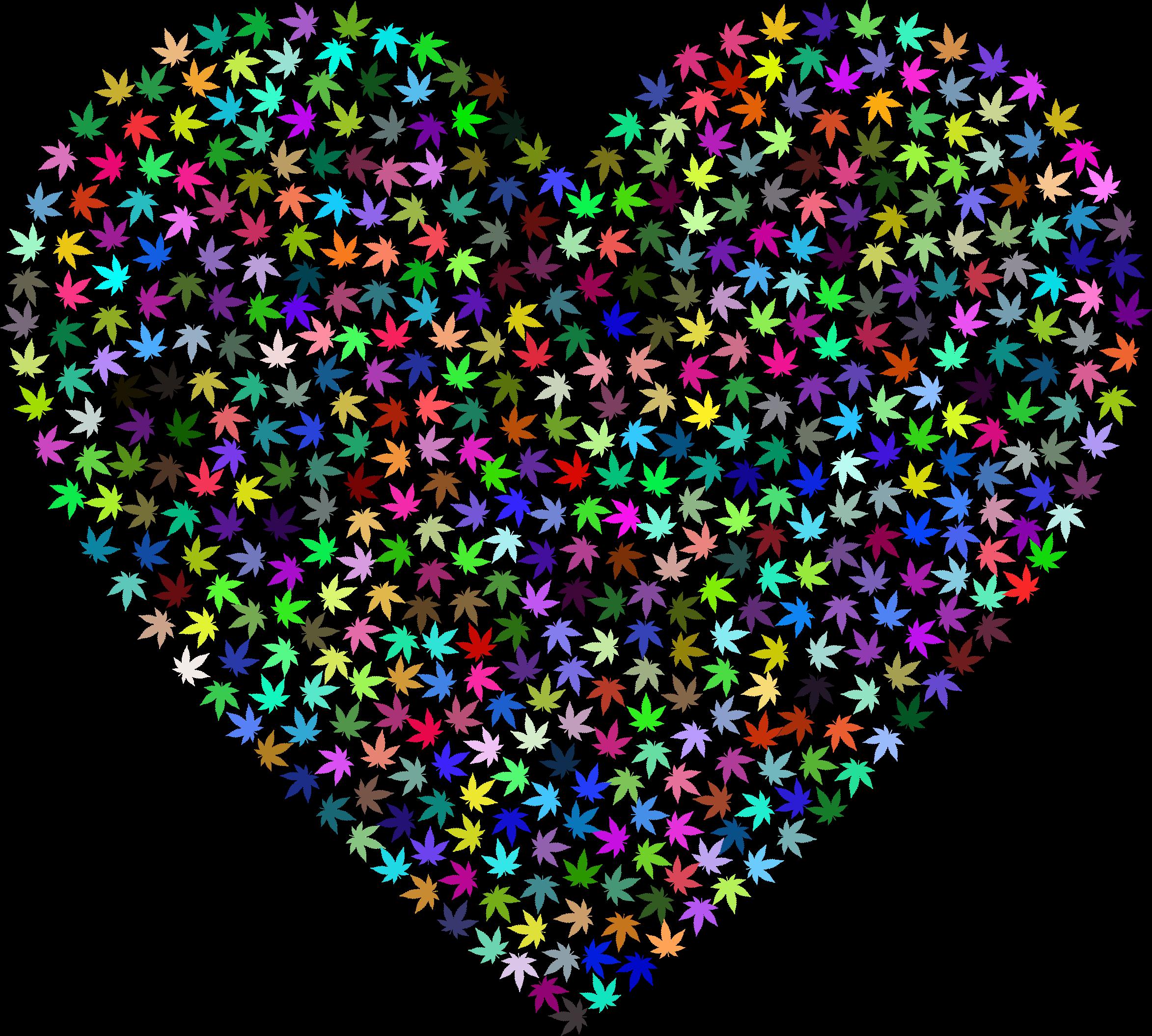 Drug clipart heart. Marijuana prismatic big image