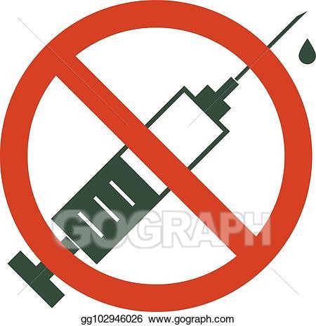 Drug clipart illicit drug. Vector no drugs allowed