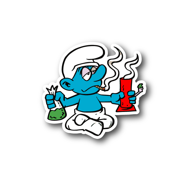 Marijuana clipart spliff. Blue cartoon hitting a
