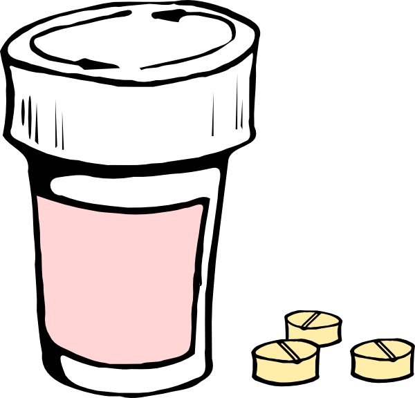 Medication clipart medicine container. Pills and bottle clip