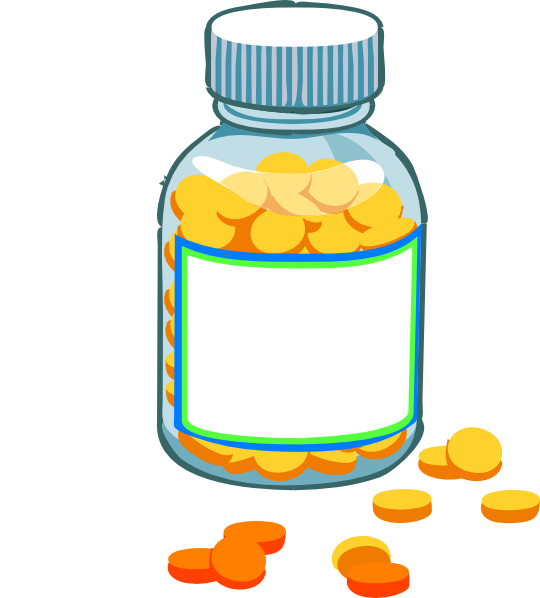 Blank pill bottle clip. Medication clipart drawing