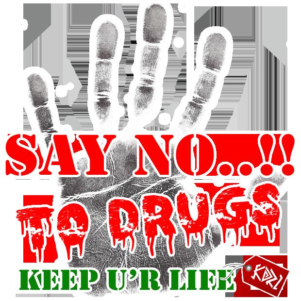 Say no to drugs. Drug clipart obat