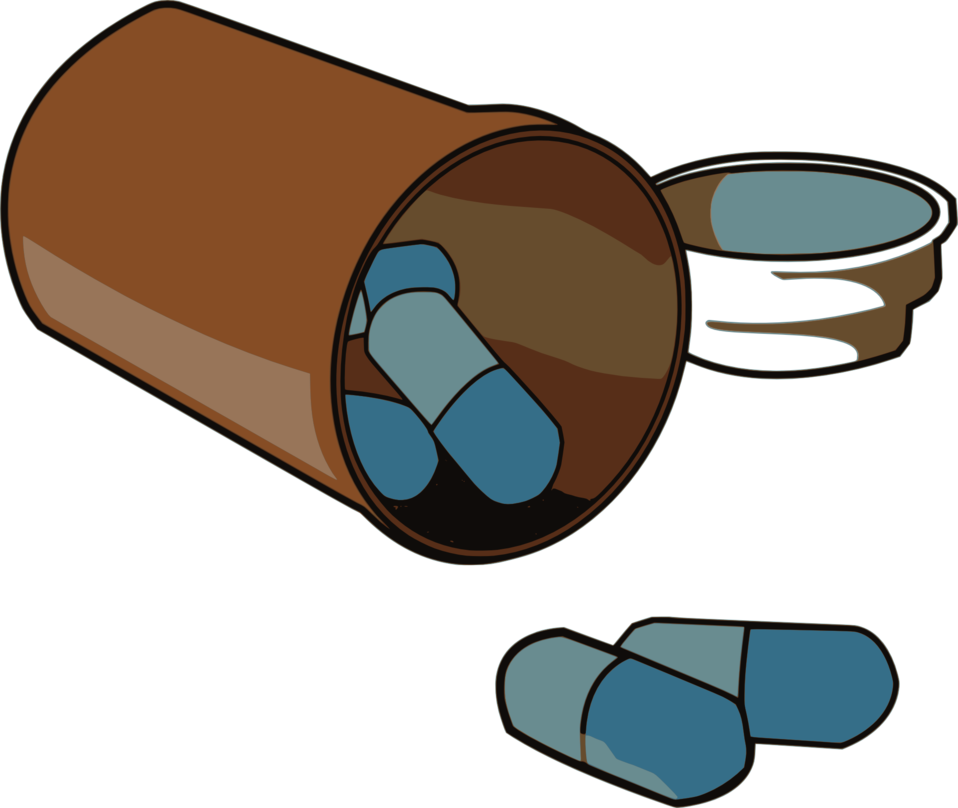 Spilled pill bottle png. Public domain clip art