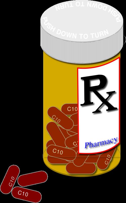 Drug pill bottle