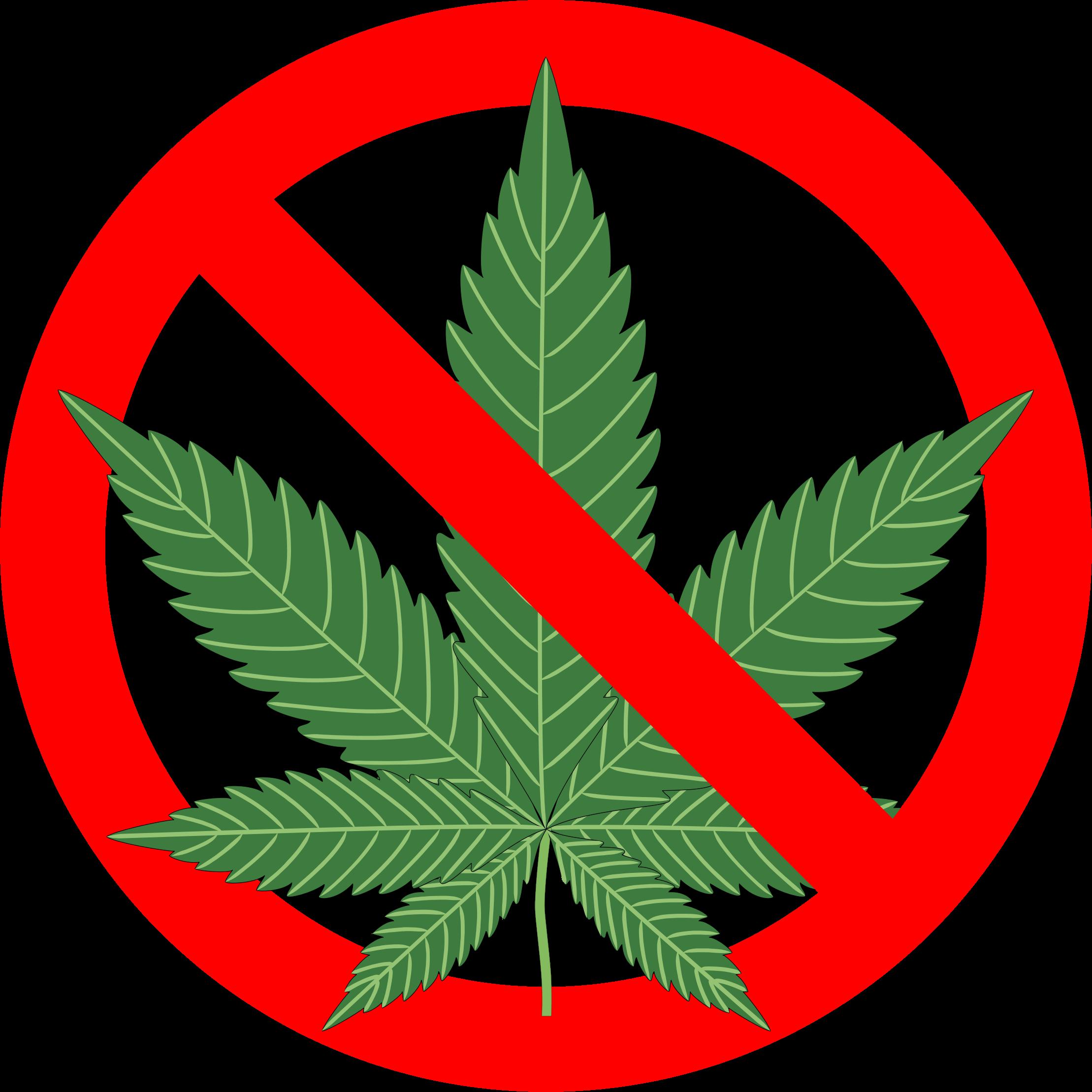 No sign big image. Marijuana clipart illegal