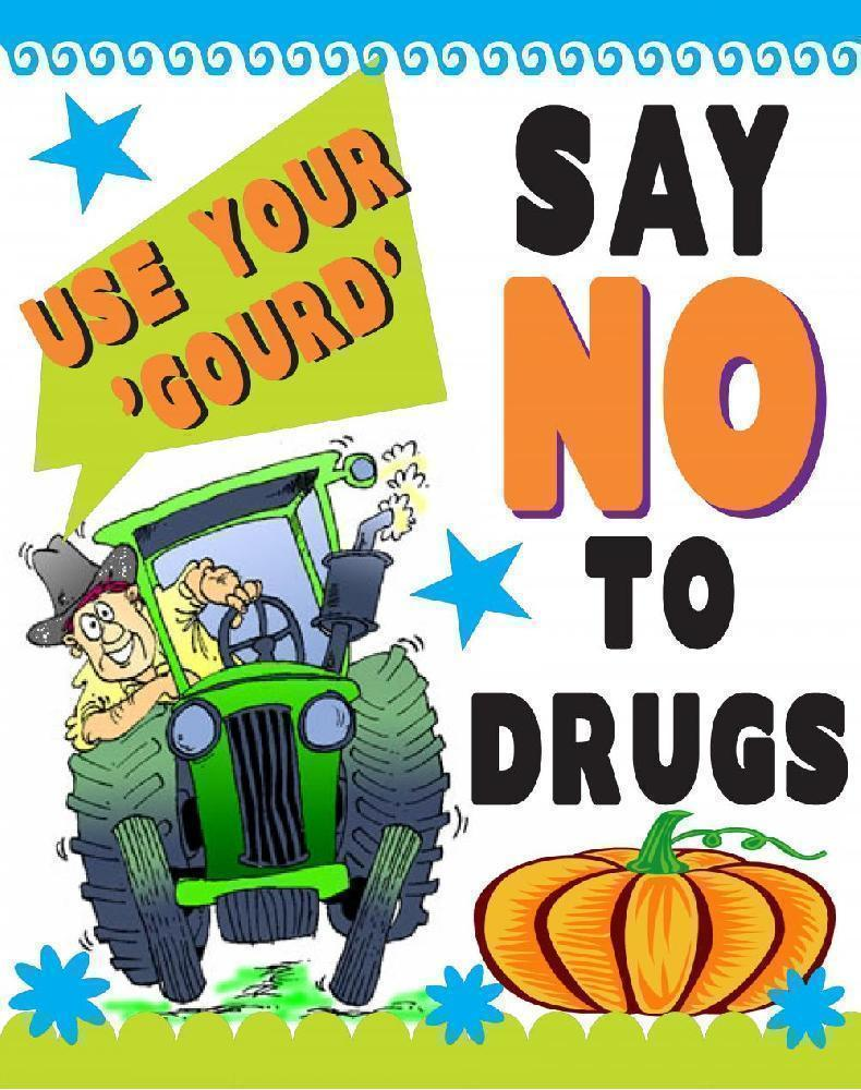 Create a fall poster. Drugs clipart