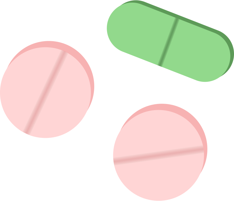collection of tablets. Pill clipart pink pill