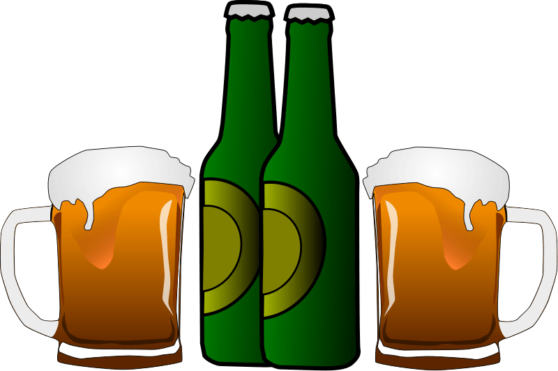 collection of alcohol. Drugs clipart liquor