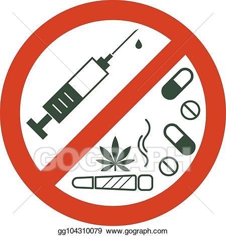 Drugs clipart sign. Clip art vector no