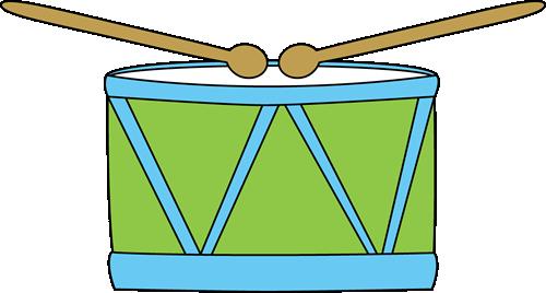 Drum clipart. Clip art image blue