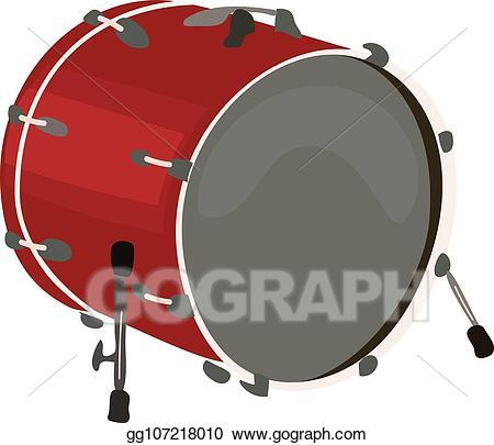 Vector stock musical instruments. Drum clipart big drum