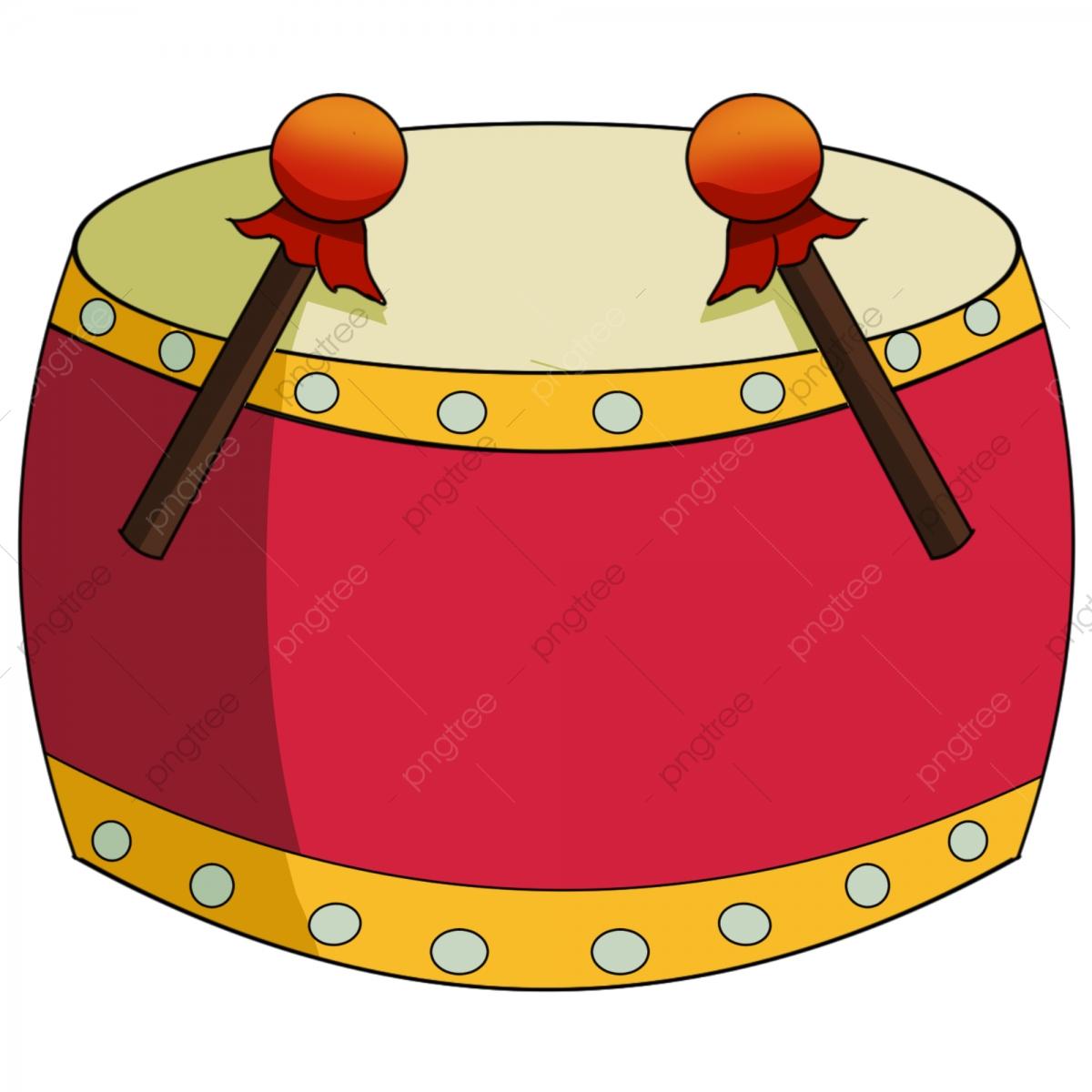 Drum clipart big drum. Hand painted cowhide drumming