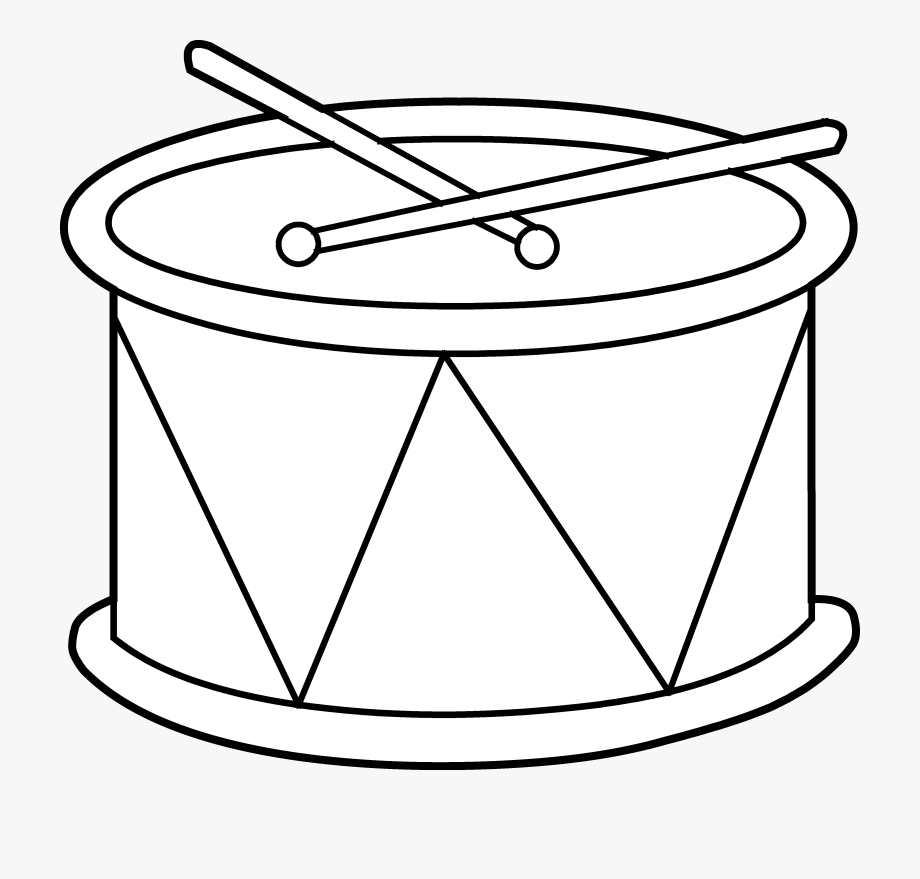 Drum clipart black and white. Snare images