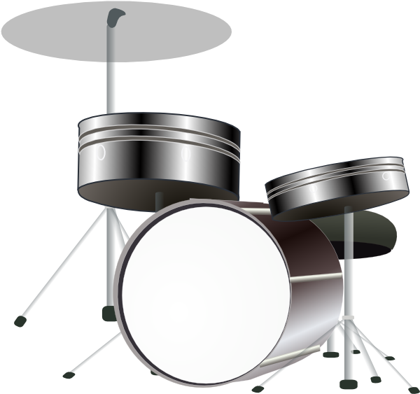 Drums clipart pink. B and w clip
