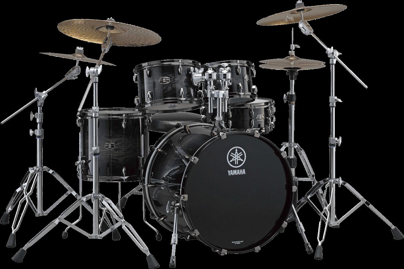 Drums clipart transparent background. Black yamaha png stickpng