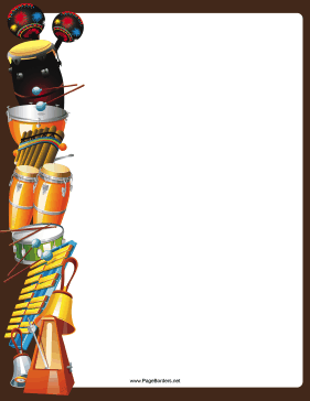 Drums clipart border. And other percussion instruments