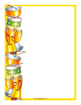 And bells decorate the. Drums clipart border