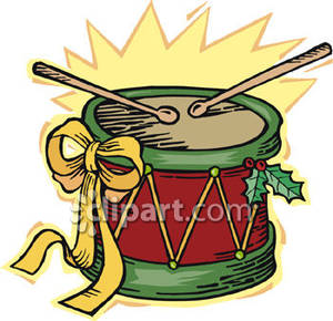Drum clipart christmas. Royalty free picture