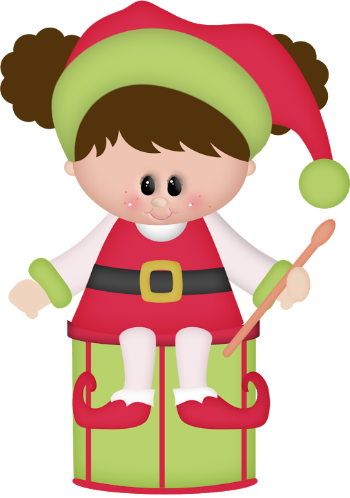 Natal personagens holidays cutting. Drum clipart christmas