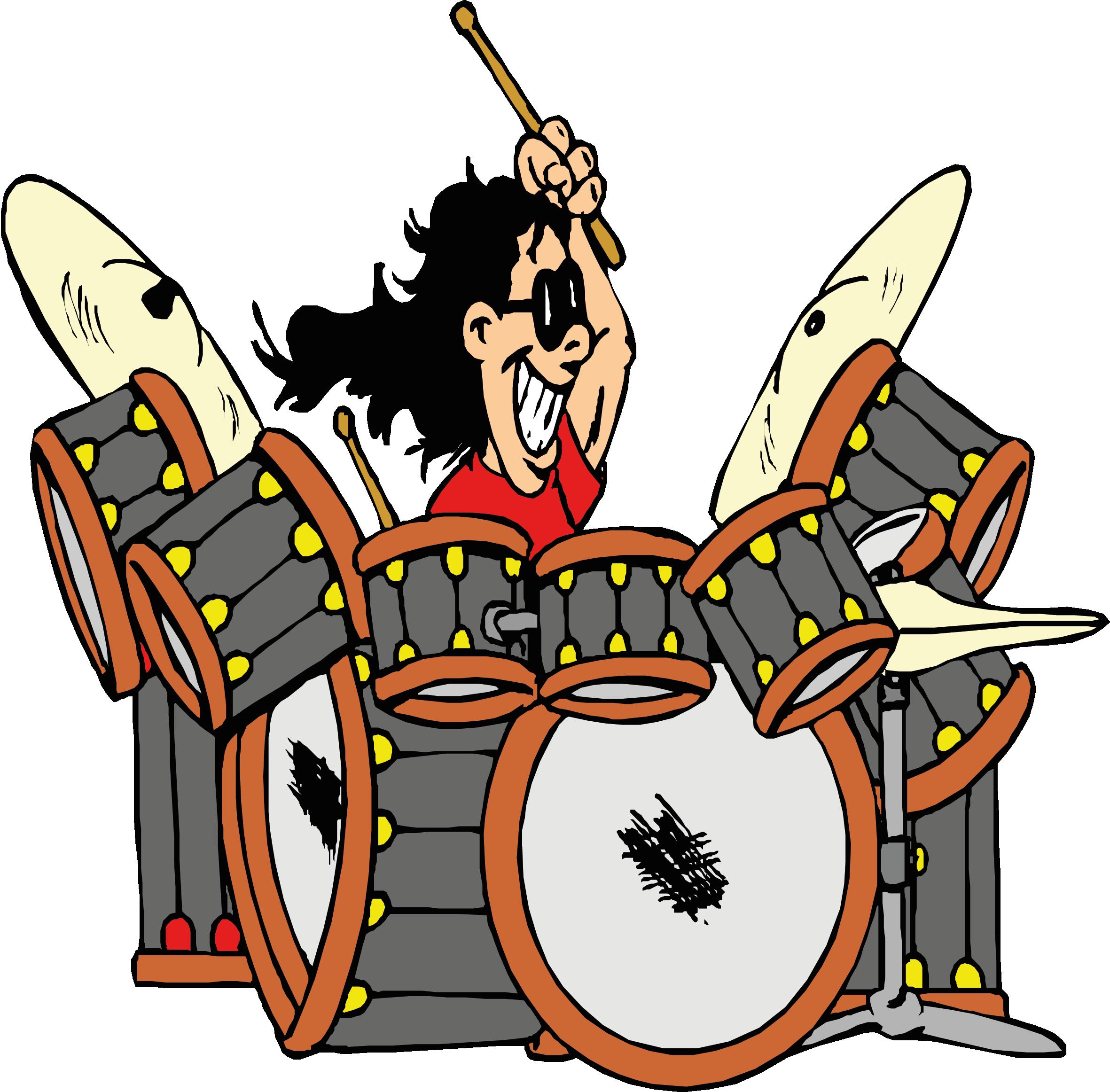 drums clipart comic