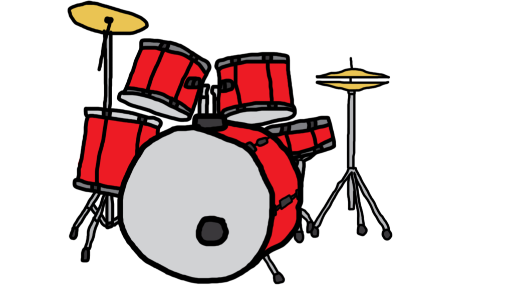 Red clipart drum set. Random by castlepokemetroid on