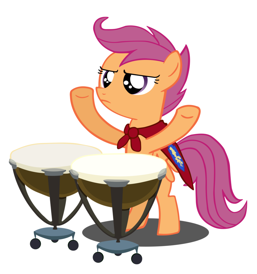 Drums clipart traditional drum. Scootaloo the master of