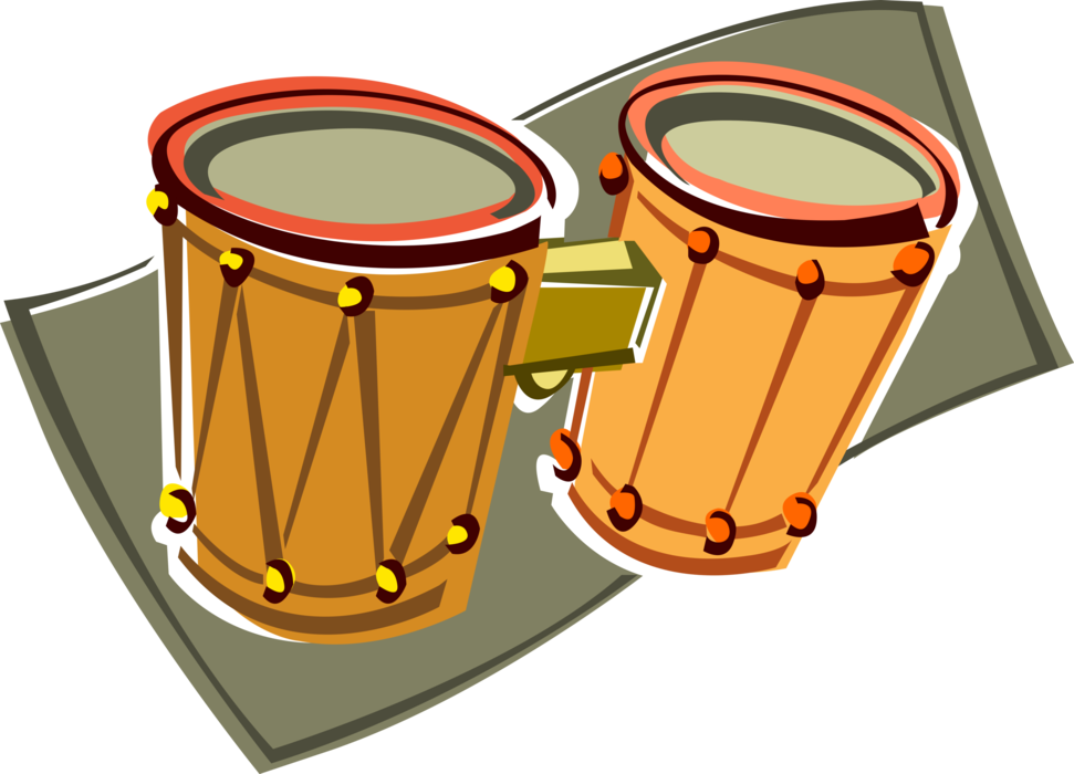 Drum clipart conga drum. Bongo with music sheet