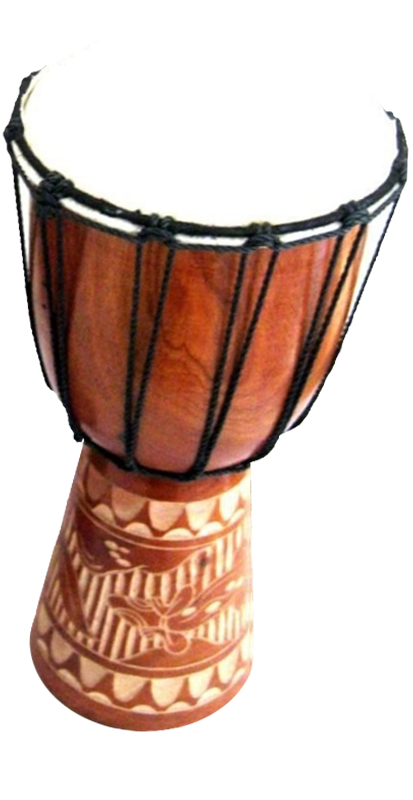 Heartbeat within the community. Drum clipart djembe
