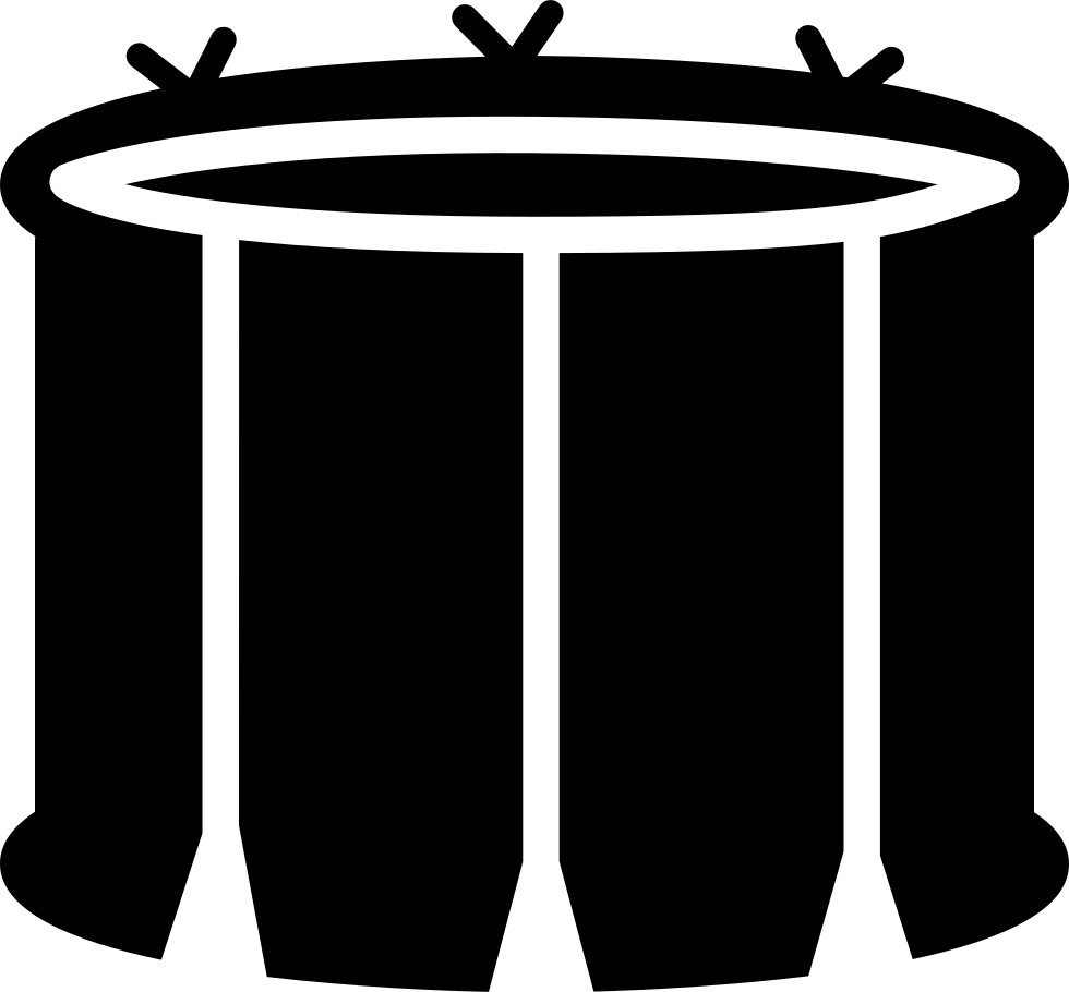 Snare with white lines. Drum clipart drum container