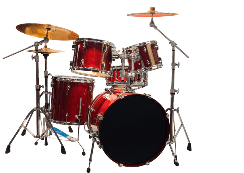 Red clipart drum set. Drums kit png free