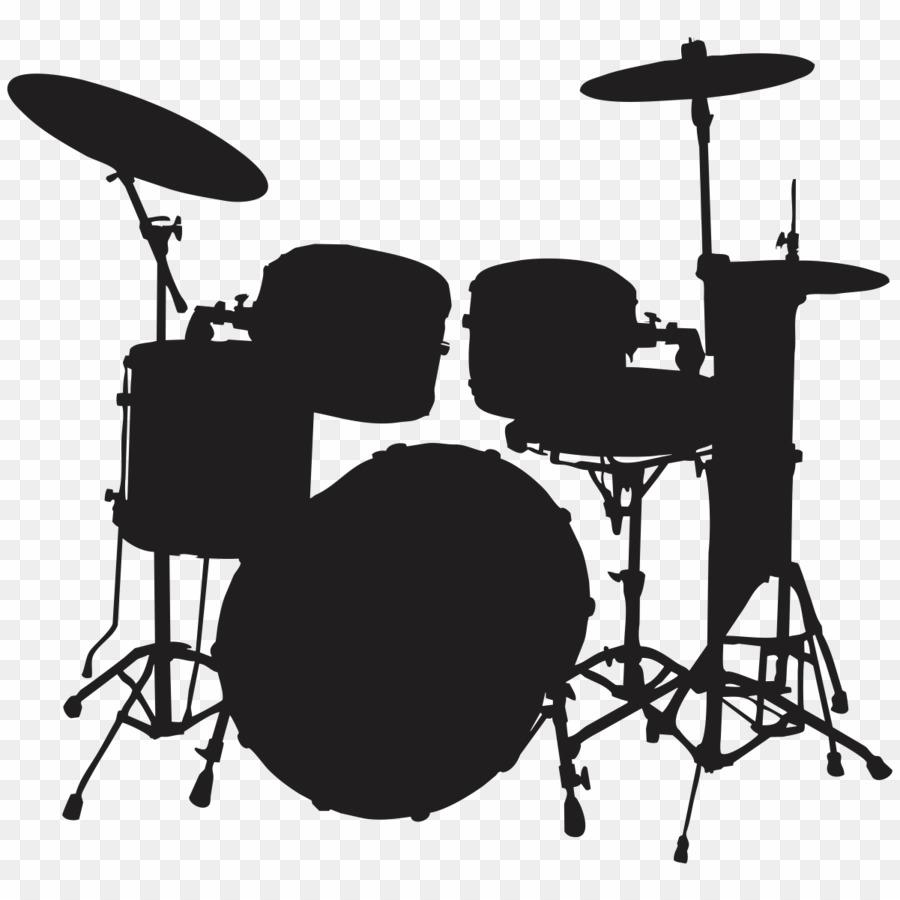 Instruments silhouette drums png. Drum clipart insturments