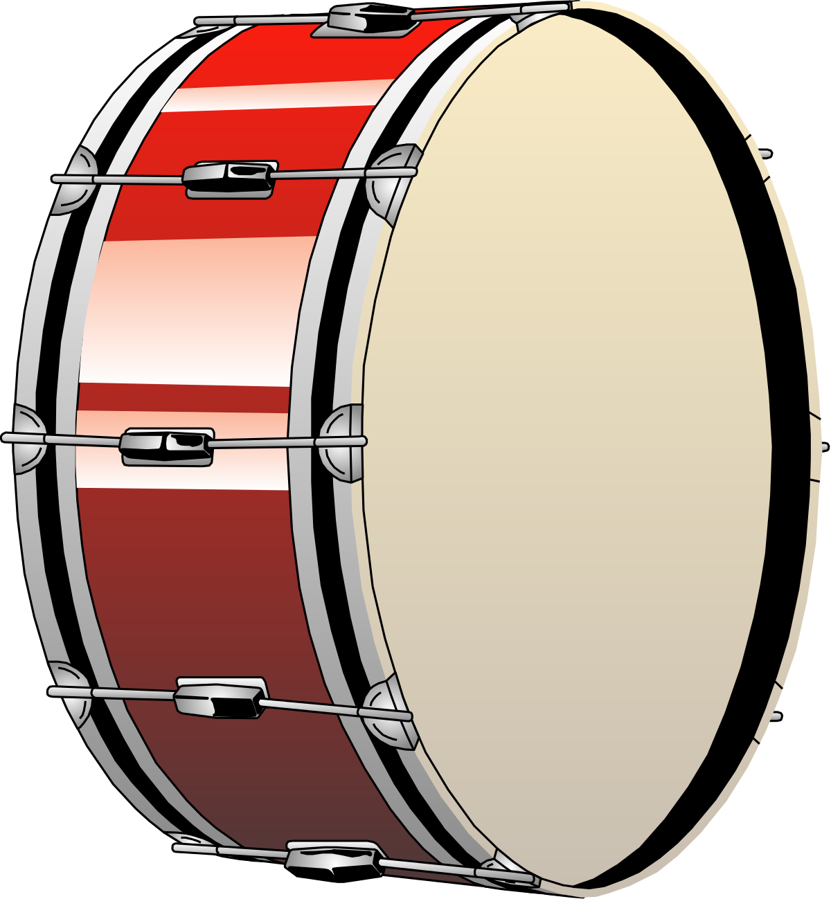 Drum clipart jazz drum. Bombo wikipedia la enciclopedia