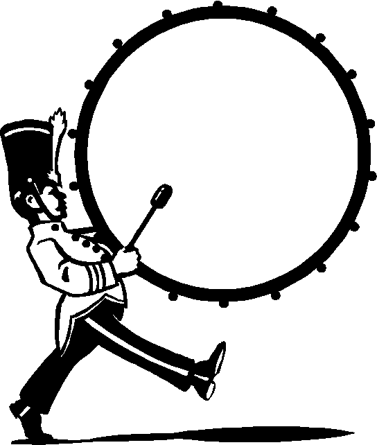 Drums clipart marching band drum. Image result for bass